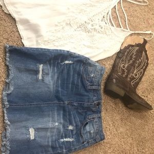 Jean skirt (mini)